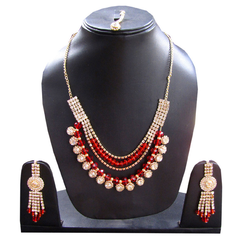 Stone Studded Necklace Set for women