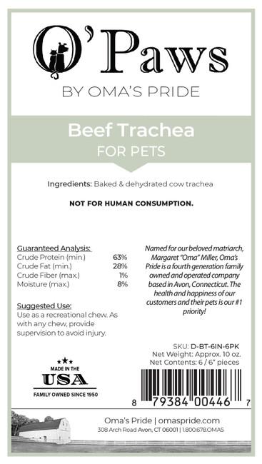 "O'Paws Beef Trachea 6"""
