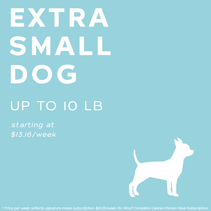 Extra Small Dog RAW Meal Subscription