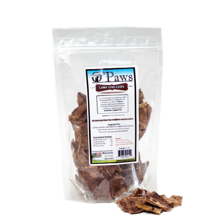 O'Paws Lamb Lung Chips 2 oz