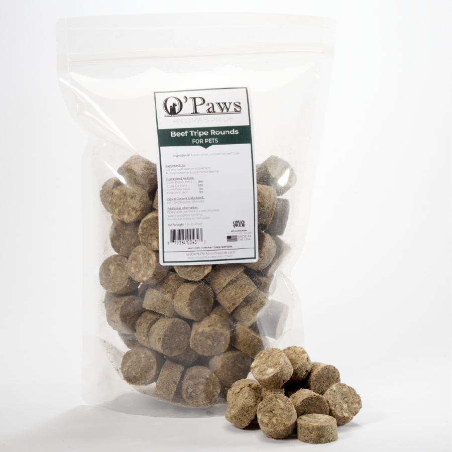 O'Paws Beef Tripe Rounds 16 oz