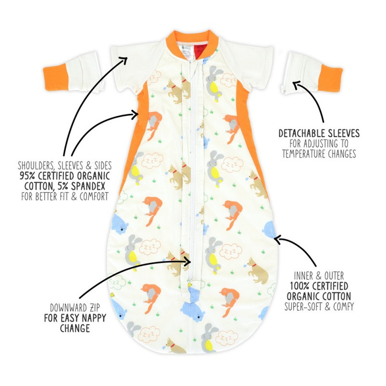 2.5 Tog Autumn/Spring Sleep Bag + Sleeves