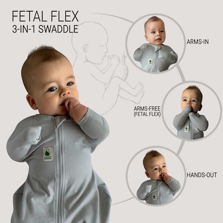 FX (Fetal Flex) Swaddle - Grey / Warm Weight