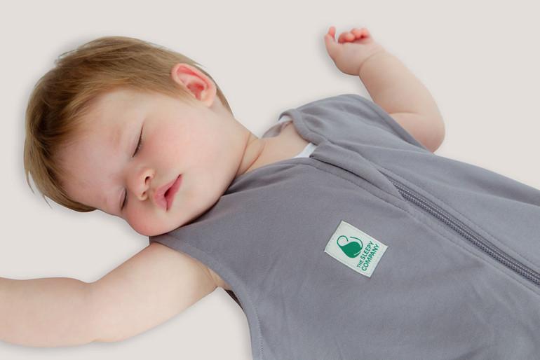 Baby sleeping in the Summer sleep bag