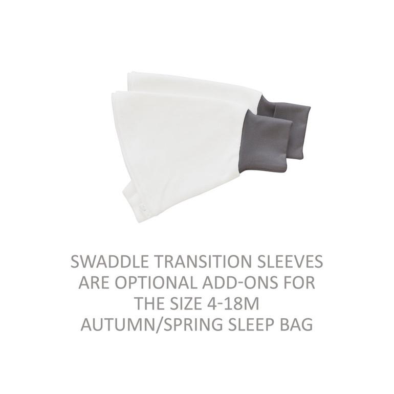 365 Sleep Bag V3 - Grey / Swaddle Transition Sleeves  (4-10 Months)