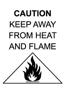 Fire warning label on garment