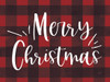 LUX117 Buffalo Plaid Merry Christmas Picture