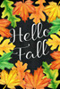 Hello Fall Leaves Picture