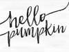 Black and White Hello Pumpkin Picture
