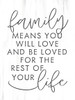 Family Means Love Picture