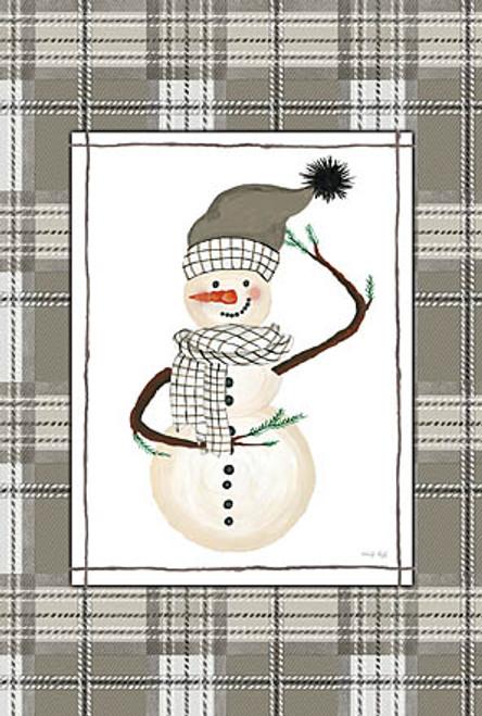 Plaid Snowman Picture
