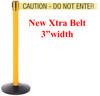 Safety Master Stanchion Yellow | 11 Ft Xtra Belt