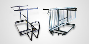 Steel Barricade Storage Carts