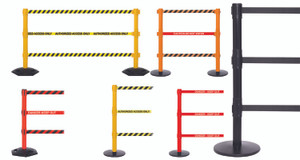Triple Belt Stanchion Barrier