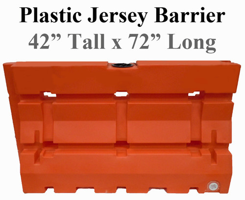 "Plastic Jersey Barrier 42"" x 72"" 100 lb-2"