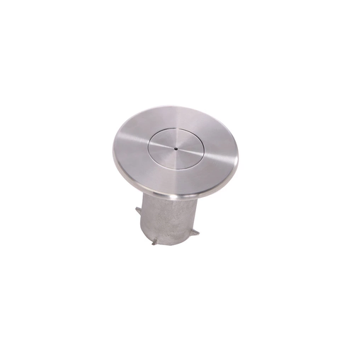 QueuePro FSK-SS Floor Socket and Cap | Satin Stainless Finish