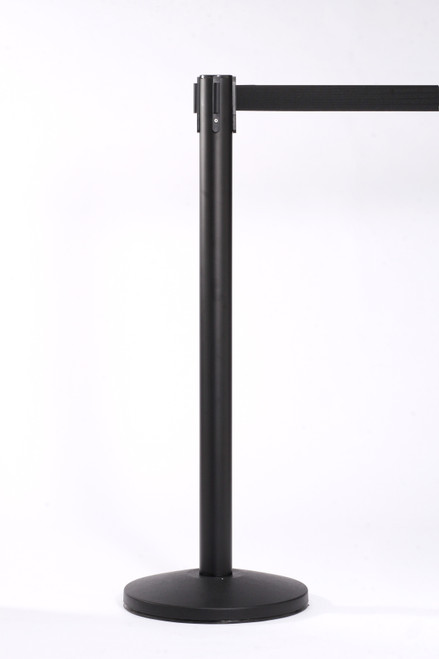 Black Crowd Control Stanchion 12 Pack & Cart - Free Shipping