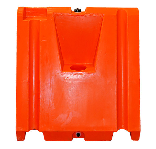 "Wedge Plastic Jersey Barrier 42"" H x 42"" L x 24"" W"