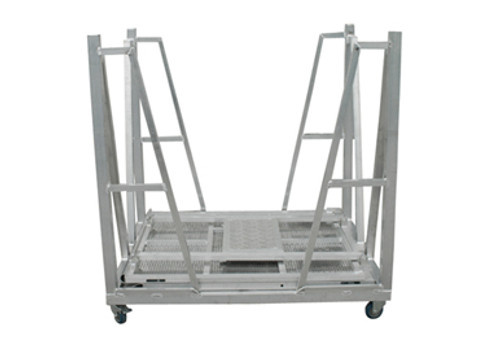 Concert Stage Barriers Cart - Aluminum Construction With Wheels