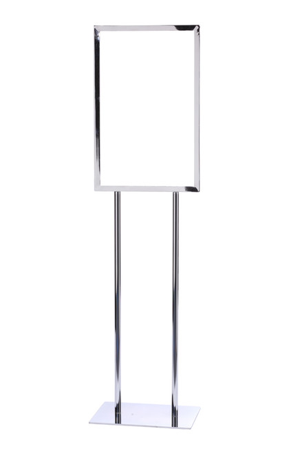"Vertical Poster Stand Frame 14"" x 22"" Polished Chrome Finish"