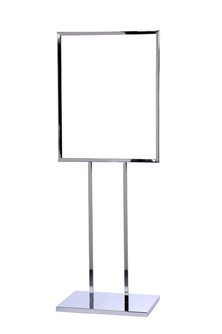 """Vertical Poster Stand Frame 22"""" x 28"""" Polished Chrome Finish"""