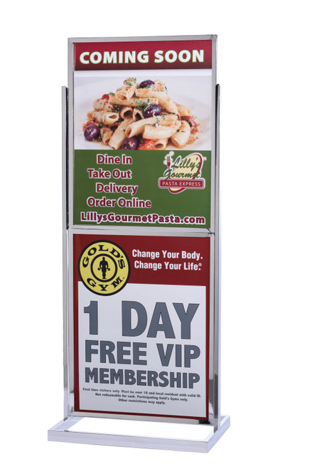 """Double Frame Sign Stand 22"""" x 28"""" Square Tube Frame"""