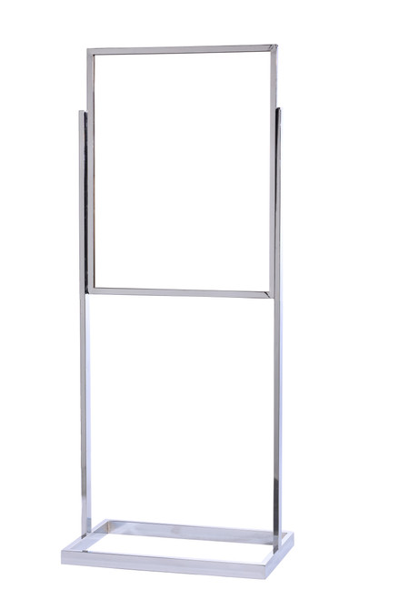 "Double Frame Sign Stand 22"" x 28"" Square Tube Frame"