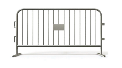 6.5 Ft Heavy Duty Steel Crowd Control Barricades with Bridge Bases