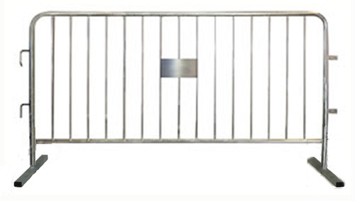 6.5 Ft Steel Crowd Control Barricades with Flat Bases