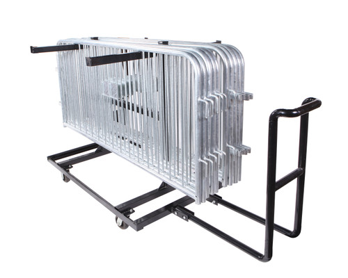 Steel Barricade Push Cart