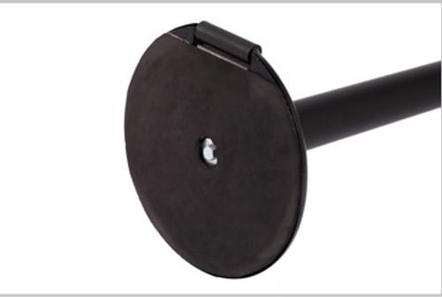 Roller Pro 300 Retractable Belt Stanchion Post | Black Finish 16 Foot Belt