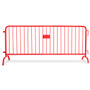 8.5 ft Red Steel Crowd Control Barricades with Bridge Bases
