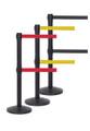 Twin Retractable Belt Barrier Stanchions | 11 Foot Belt | ADA Compliant