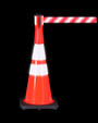 "28"" Traffic Cone 280 With Reflective Collars and 14""x14"" Base"