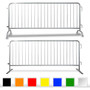 30 Pack 8.5 Ft Steel Crowd Control Barricades with Cart