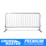 6.5 Foot Heavy Duty Steel Barricades with Flat Bases | Crowd Control Steel Barriers