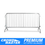 6.5 Foot Heavy Duty Steel Barricades with Bridge Bases | Crowd Control Barriers