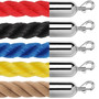 """1.5"""" Twisted Polypropylene Stanchion Ropes 2 to 10 Foot"""