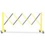 Steel FlexPro Expanding Barricades 11 Foot   Yellow / Black