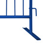 "Replacement Flat Base - 1.5"" Diameter Frame Blue Powder Coat"