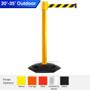 Safety Retractable Belt Barrier | Weather Master 20 / 25 / 30 / 35 Ft Belts