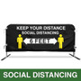Social Distancing Printed Barricade Jacket | Custom Barrier Covers