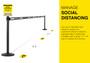 Social Distancing Wall Mounted Retractable Belt Barrier 13 Foot Belt