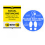 """Rope Stanchion Social Distancing Kit 