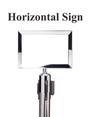 Standard Chrome Sign Frame - Belt Stanchion