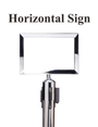 Standard Chrome Sign Frame - Rope Stanchions