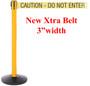 "Safety Retractable Belt Barrier | 3"" Wide Belt | 11 Foot Safety Master Stanchion"