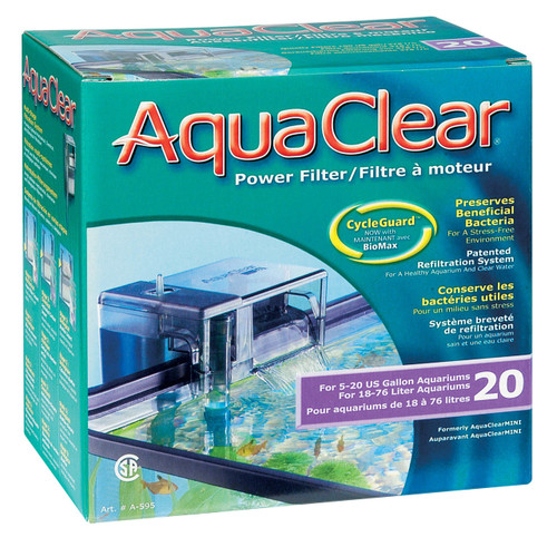 Aquaclear  20 Power Filter w/ Media