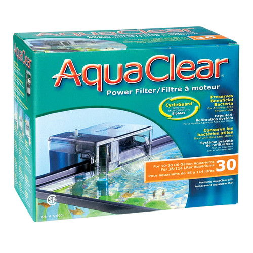 Aquaclear  30 Power Filter w/ Media