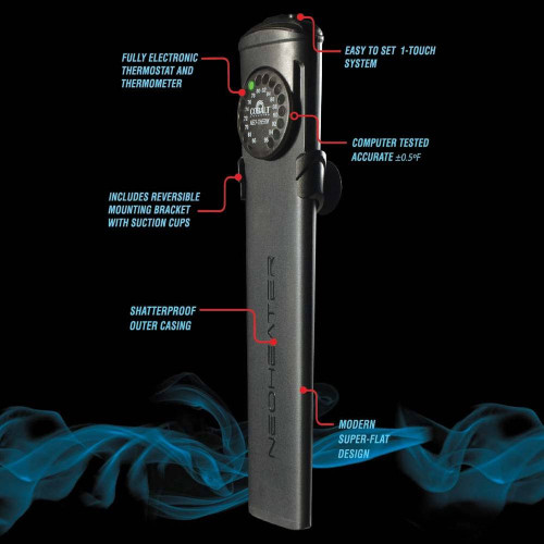 Cobalt Electronic Heater w/ Shatterproof Case 50 Watt